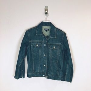 Club Monaco Medium Wash Denim Jean Jacket Sz L